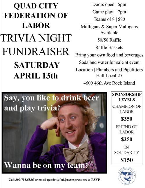 QCFL Trivia Night Flyer