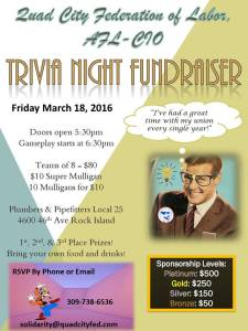 2016 Trivia Night Fundraiser