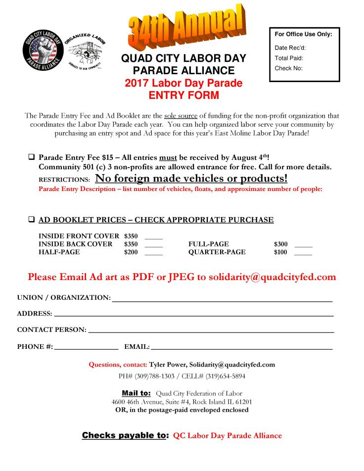 Labor Day Parade 2017 Entry Form-page-001