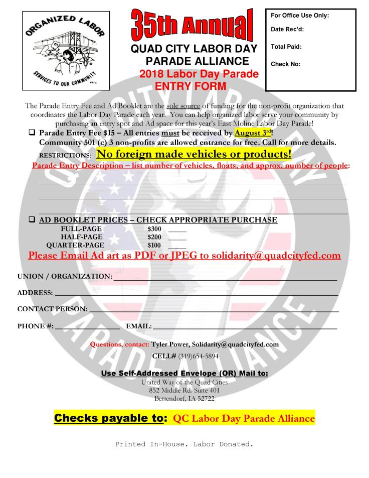 FINAL-Labor Day Parade 2018 Entry Form-page-001