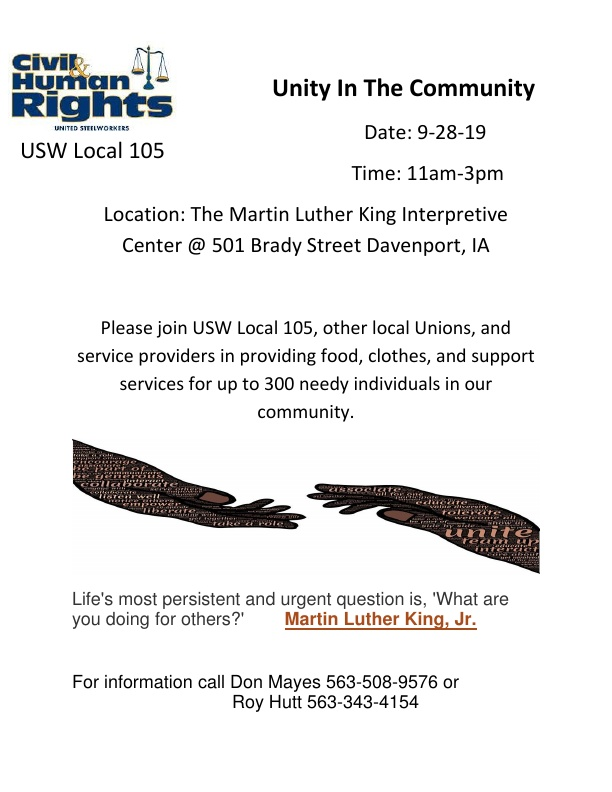 Unity In The Community Flier