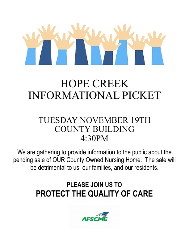Hope Creek Picket November 19