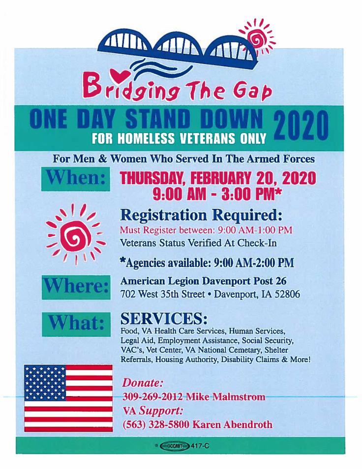 Bridging the Gap Flyer 2020